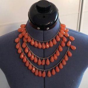 Jewelry - Orange bead necklace